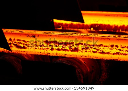 Steel making scenes - Fiery steel