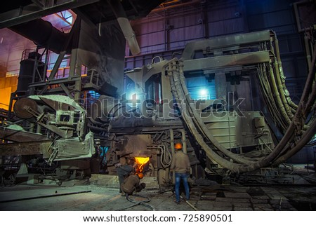 Steel-making workshop