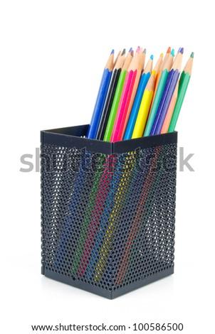 Steel mesh brush pot