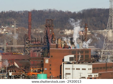 Steel mill blast furnaces