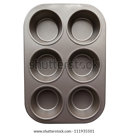 steel mold for baking. The view from the top