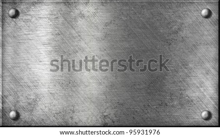 steel or aluminium or aluminum metal plate with rivets