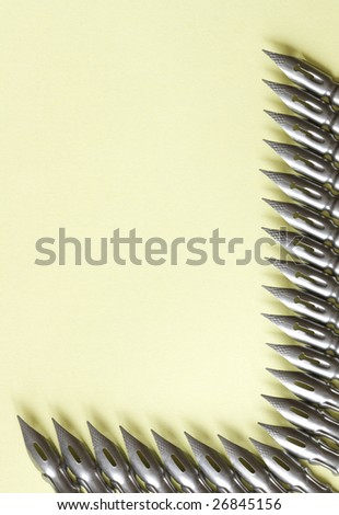 Steel pens border