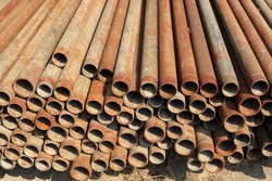 Steel pipe pile up together