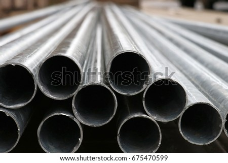 steel pipes  #675470599
