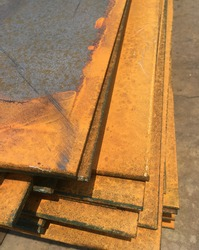 Steel plate, rust steel, steel support structure.