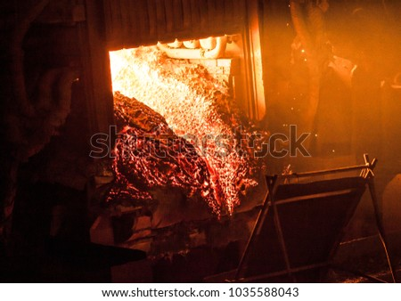 steel production in the metallurgical furnace