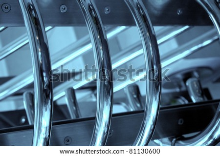 steel railings - stock photo