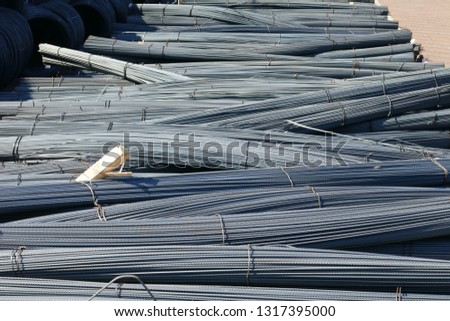 Steel rods for construction  #1317395000