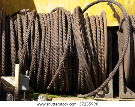 Steel rope or metal wire for construction industry