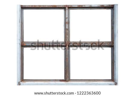 Free photos Black metal window frame   Avopix.com