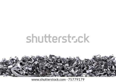 Steel shavings from CNC.