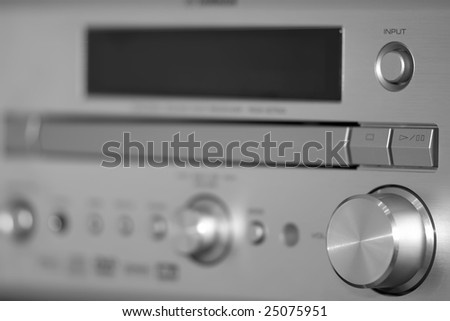 Steel silver receiver with knobs
