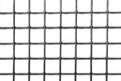 steel square grid on a white background