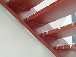 Steel staircase frame Red rust-proof paint
