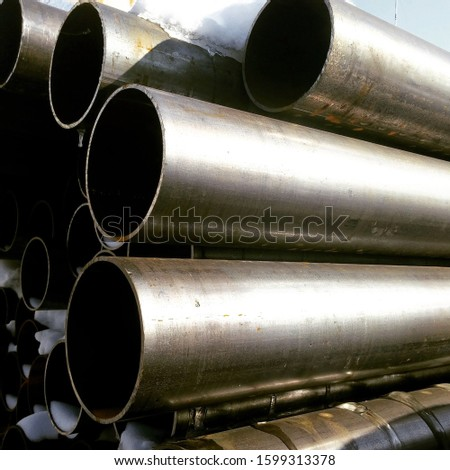 Steel steel pipes, round shape. For water supply