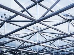 Steel structure Architecture detail Abstract Background