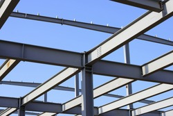 Steel structure building is under construction