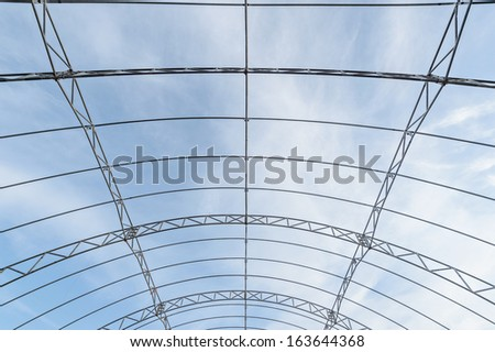 steel structure framework in a factory #163644368