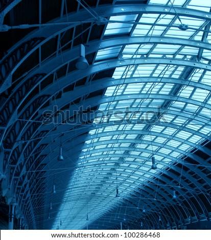 Steel structure of roof indoor hallway corridor construction