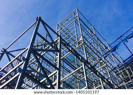 Steel Structures Under the blue sky. #1405101197