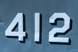 Steel surface number display 412