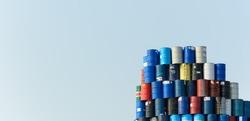 steel tank with blue sky