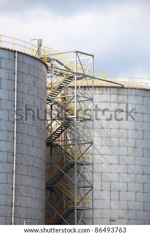 Steel tanks, Chemical Industry, Storage Tank In Industrial Plant
