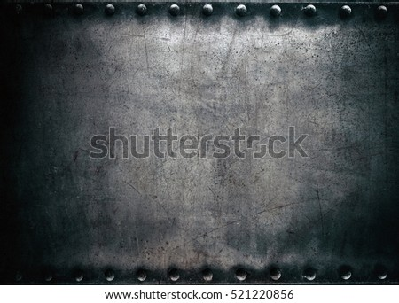 Steel texture, dark metal background