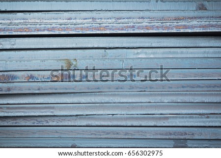 Steel texture, Steel stack, Steel industry background. #656302975