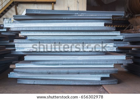 Steel texture, Steel stack, Steel industry background. #656302978