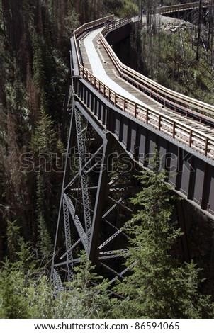 Steel trestle in Myra Canyon