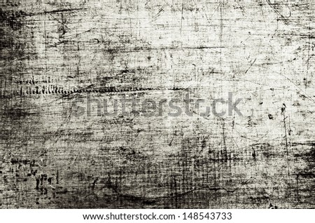 steel typography surface covered with scratches, etchings and traces of paint #148543733