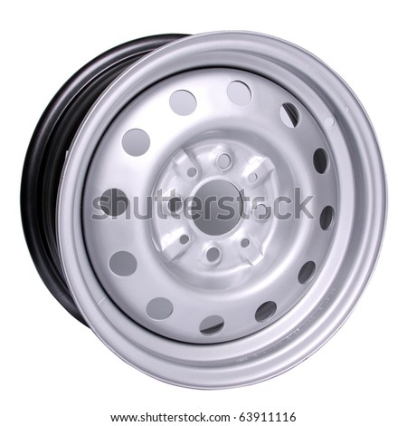 Steel Wheel - stock photo