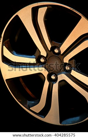Stock Photo Steel wheel car