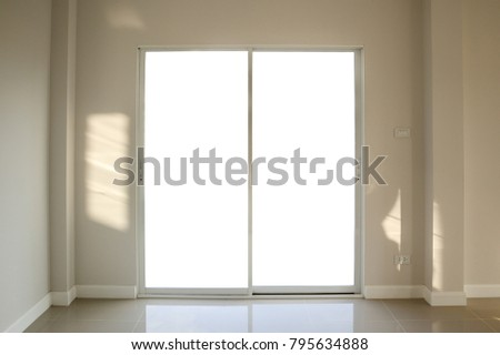 Steel white window frame home interior on paint wall | EZ Canvas