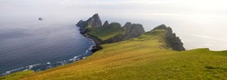 Steep cliffs on the remote island of Hirta (St Kilda). The Saint Kilda archipelago contains the largest colony of Gannets in Europe with more than 60,000 nests.