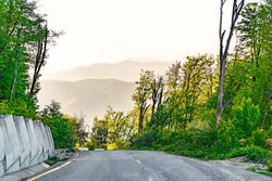 Steep descent on a mountain road