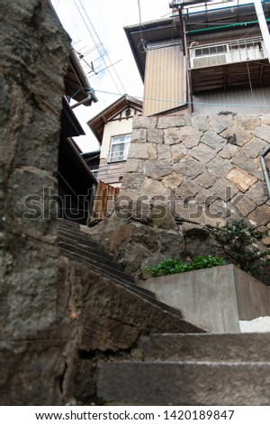 Steep slopes of a town with slopes #1420189847
