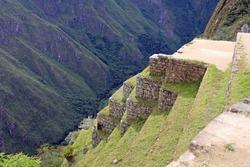 Steep Terraces at Machu Picchu, Peru