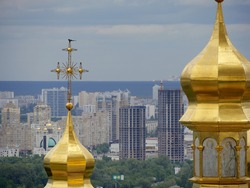 Steeples of Orthodox churches in Ukraine