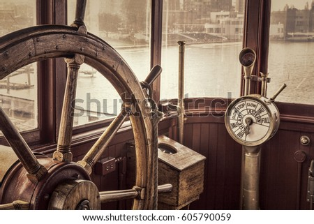 steering wheel and engine...