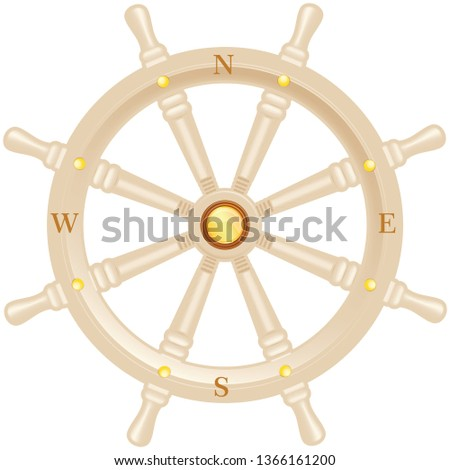 steering wheel for ship. Ship helm