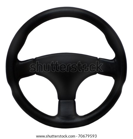 Steering wheel isolated on a white background