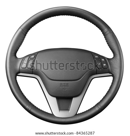 Steering wheel,  isolated on the white background, clipping path included.