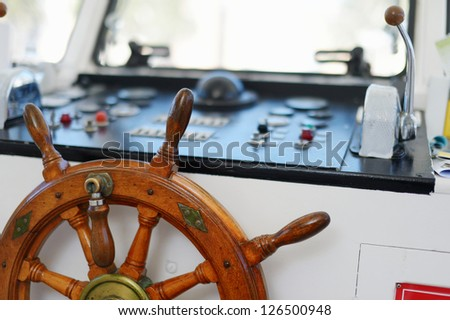 Steering wheel of a sailboat
