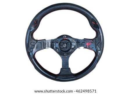 Steering wheel of game isolated with clipping path #462498571