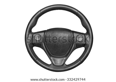 Steering wheel on a white background. #332429744