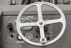 steering wheel U.S.A army Jeep Interior detail .
