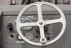 steering wheel U.S.A army Jeep Interior detail .